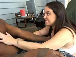 Amateur busty brunette wife sucks black dick