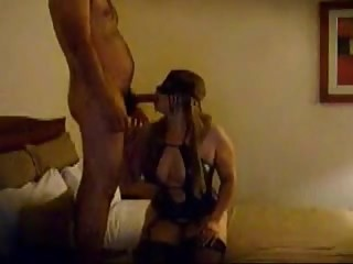 Amateur Masked Wife Takes Two Dicks