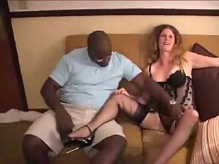 Blond wife taking a big black dick